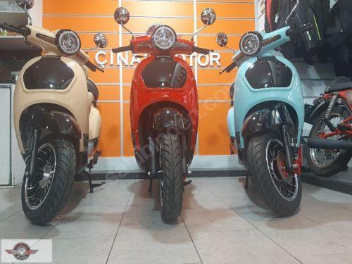 Motolux Efsane 50 2020 Model Sıfır Kilometre Senetle Motosiklet Çift Renk 5