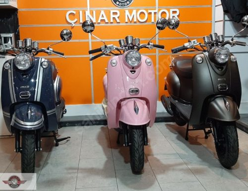 Motolux Efsane 50 2020 Model Sıfır Kilometre Senetle Motosiklet Çift Renk 24