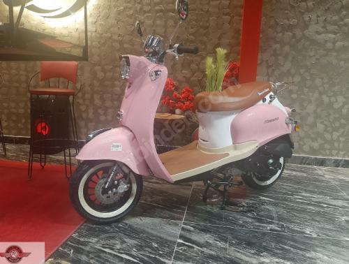 Motolux Efsane 50 2020 Model Sıfır Kilometre Senetle Motosiklet Pembe 4