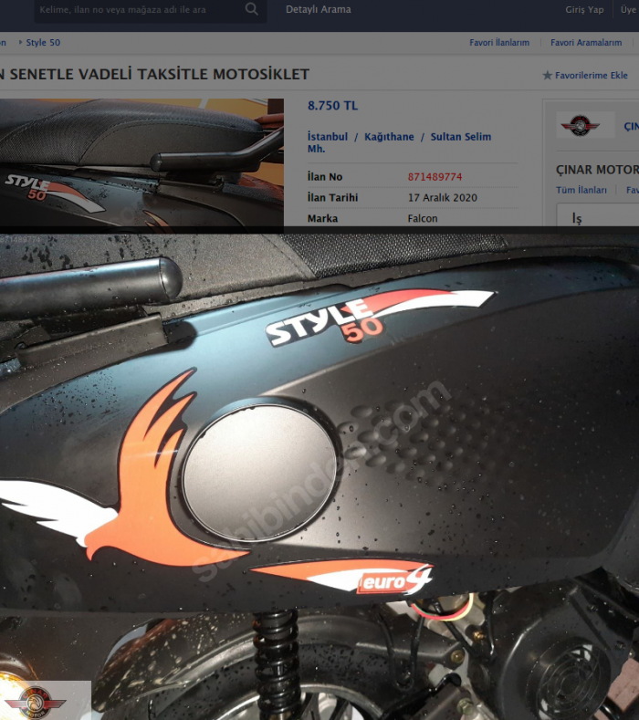 Falcon Style 50 2020 Model Sıfır Kilometre Senetle Motosiklet 6