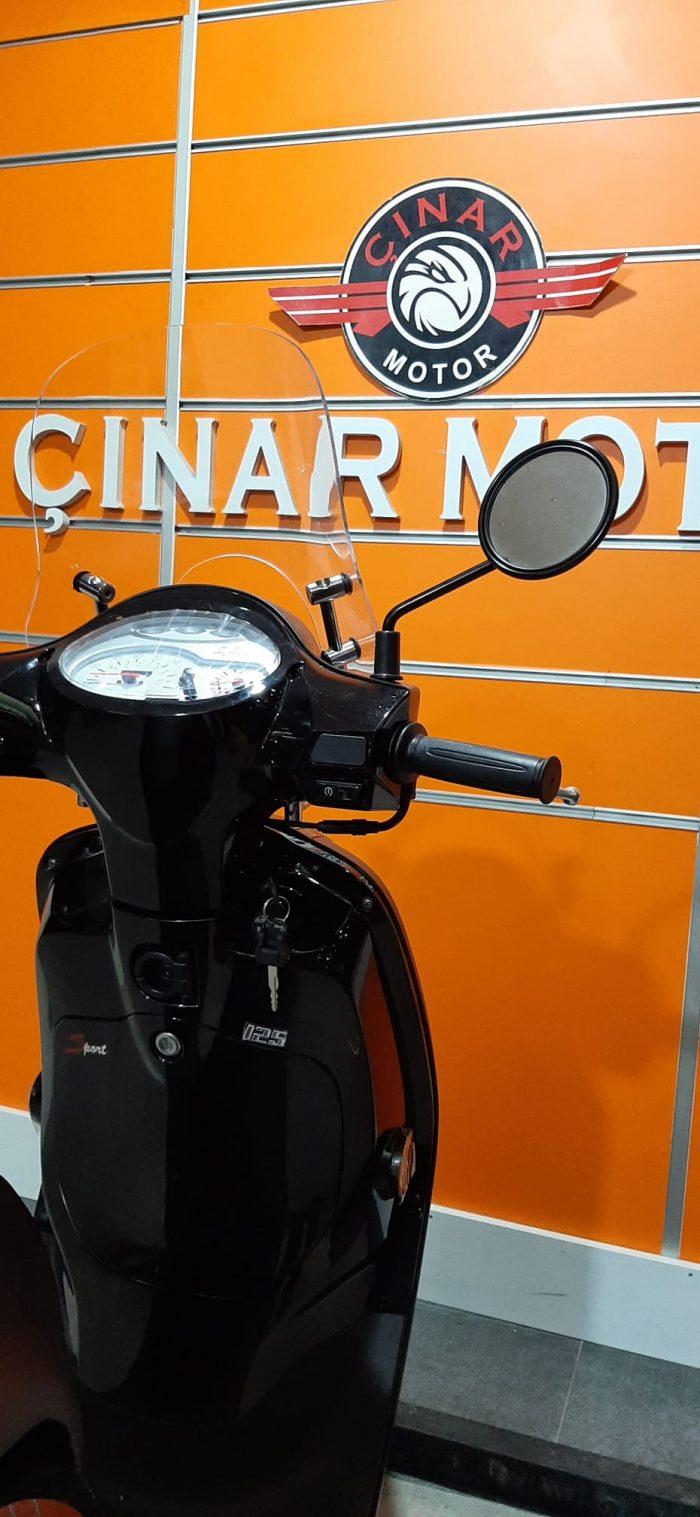 SYM Fiddle III 125 2021 Model Sıfır Kilometre Senetle Motosiklet Siyah 7