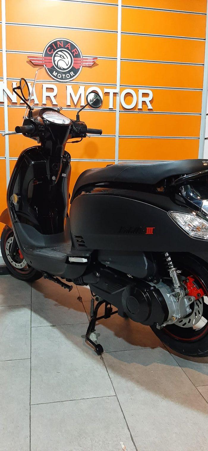 SYM Fiddle III 125 2021 Model Sıfır Kilometre Senetle Motosiklet Siyah 5