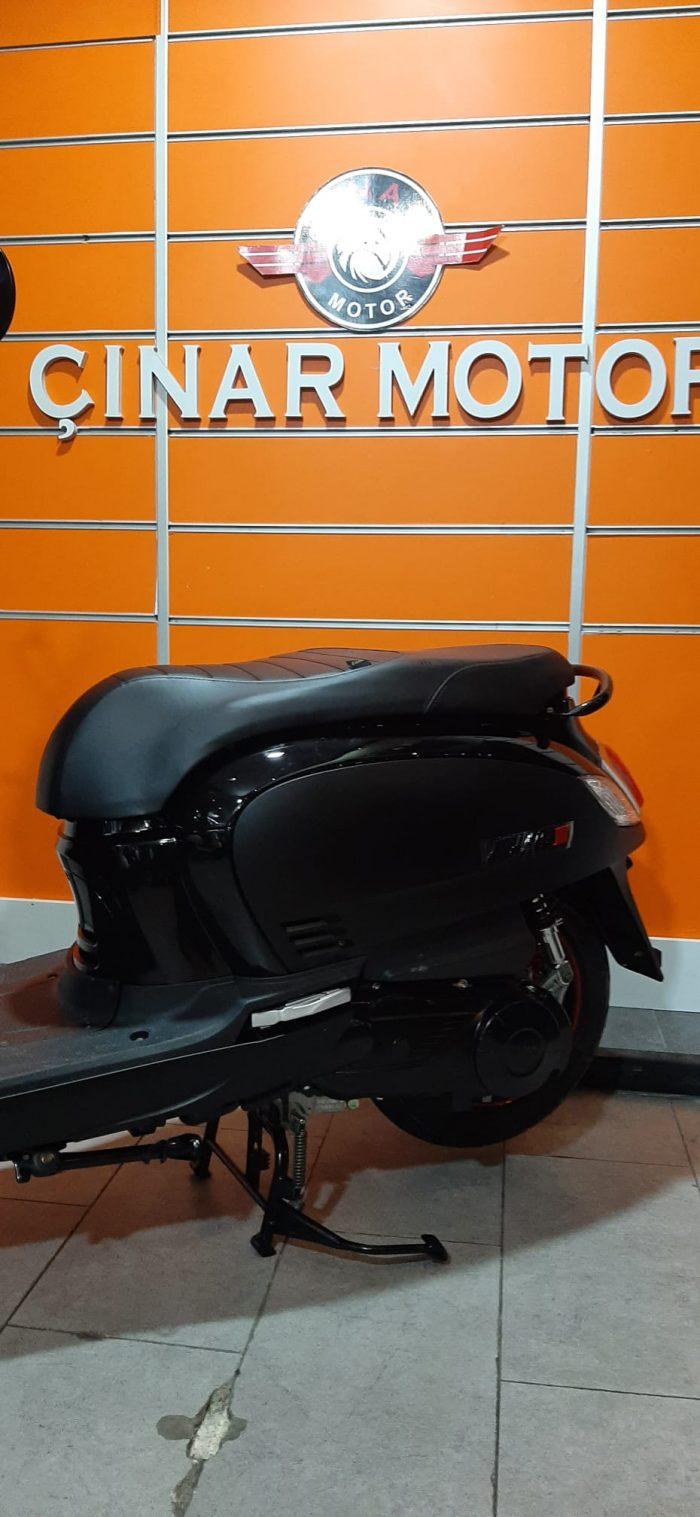 SYM Fiddle III 125 2021 Model Sıfır Kilometre Senetle Motosiklet Siyah 3