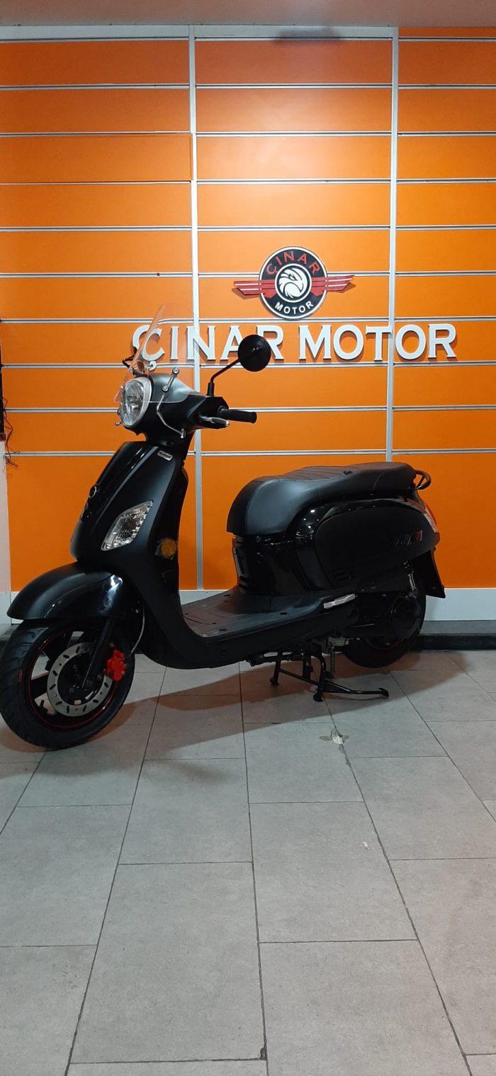 SYM Fiddle III 125 2021 Model Sıfır Kilometre Senetle Motosiklet Siyah 2
