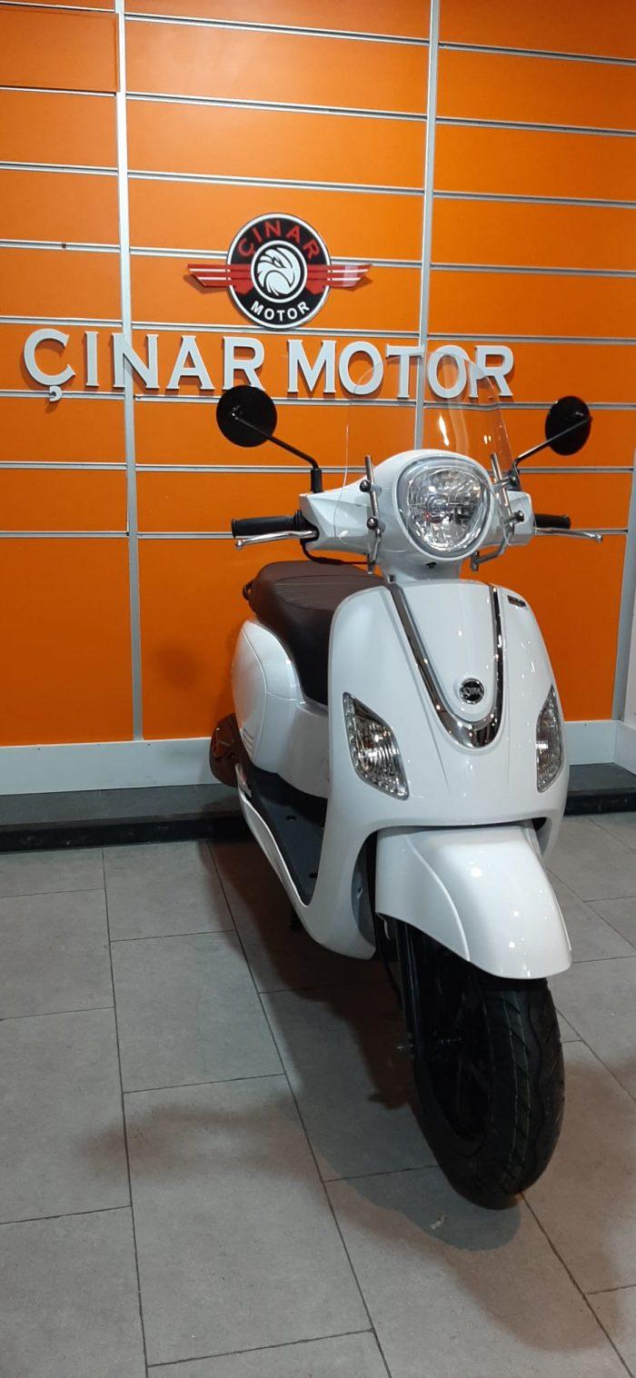 SYM Fiddle III 125 2021 Model Sıfır Kilometre Senetle Motosiklet Beyaz 13