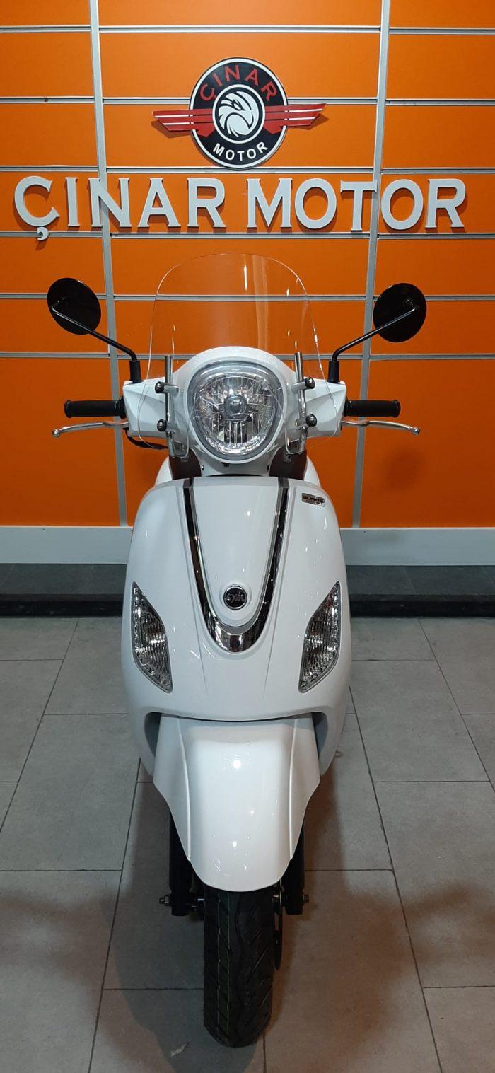 SYM Fiddle III 125 2021 Model Sıfır Kilometre Senetle Motosiklet Beyaz 12