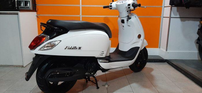 SYM Fiddle III 125 2021 Model Sıfır Kilometre Senetle Motosiklet Beyaz 8