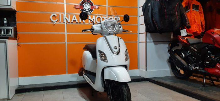 SYM Fiddle III 125 2021 Model Sıfır Kilometre Senetle Motosiklet Beyaz 6