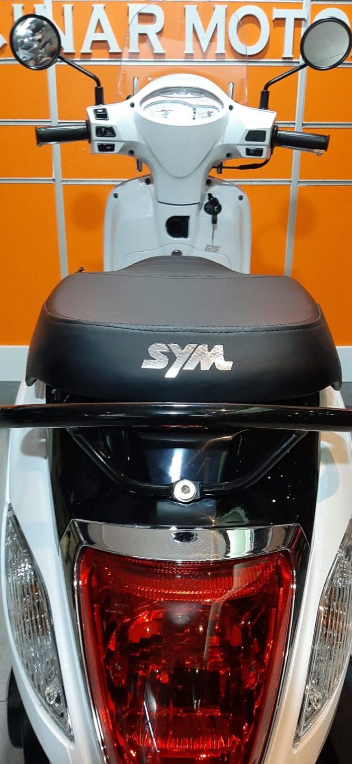 SYM Fiddle III 125 2021 Model Sıfır Kilometre Senetle Motosiklet Beyaz 4