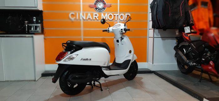 SYM Fiddle III 125 2021 Model Sıfır Kilometre Senetle Motosiklet Beyaz 3