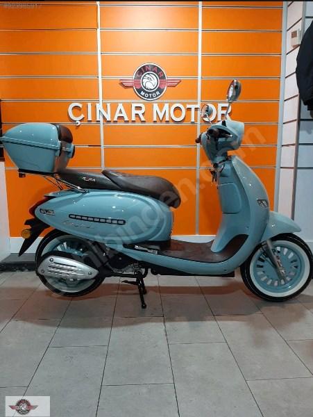Arora Cappucino 125 2020 Model Motor Sıfır kilometre Senetle Motosiklet Mavi 10