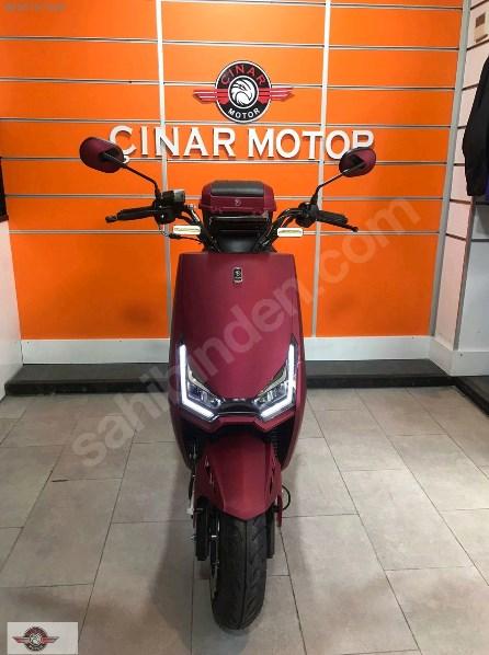 Falcon Techno 50 2021 Model Sıfır Kilometre Senetle Motosiklet Bordo 1