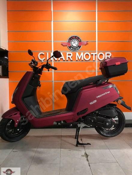 Falcon Techno 50 2021 Model Sıfır Kilometre Senetle Motosiklet Bordo 3