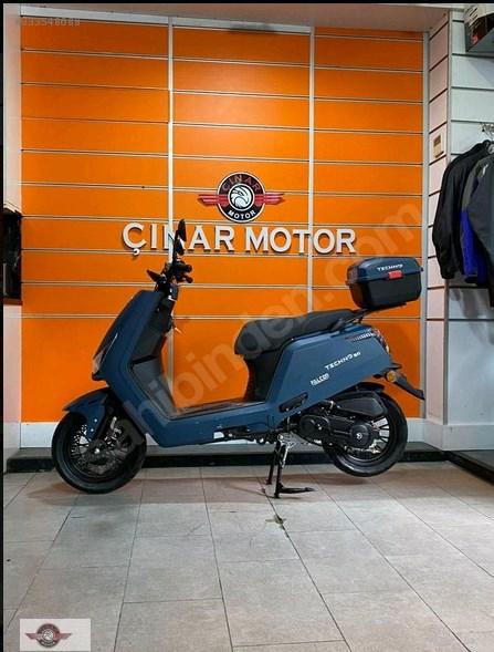 Falcon Techno 50 2021 Model Sıfır Kilometre Senetle Motosiklet Mavi 6