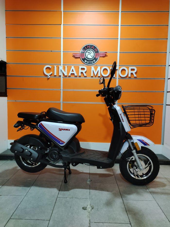 Yuki QM50QT-6E Snoopy 2021 Model Sıfır Kilometre Senetle Motosiklet 3