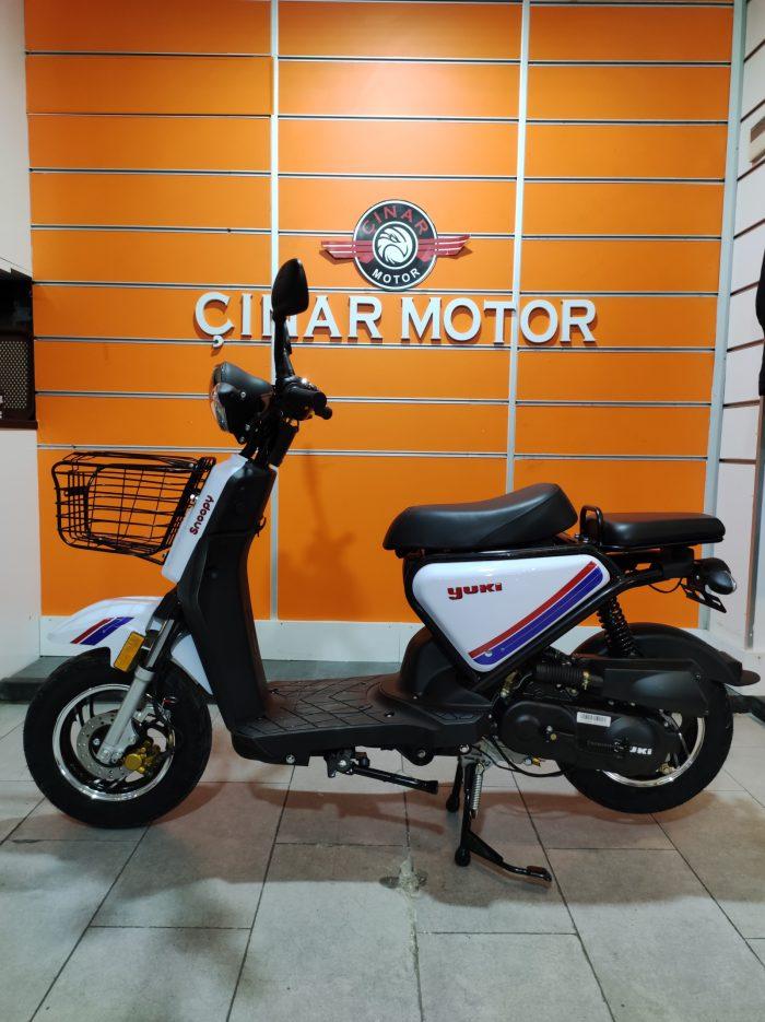 Yuki QM50QT-6E Snoopy 2021 Model Sıfır Kilometre Senetle Motosiklet 10