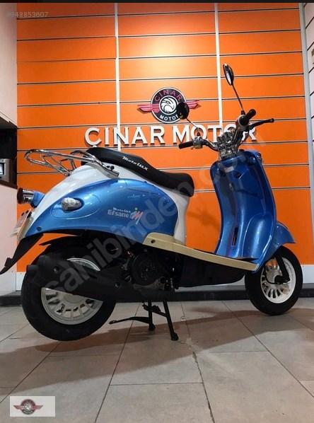 Motolux Efsane 50 2021 Model Sıfır Kilometre Senetle Motosiklet Mavi 11