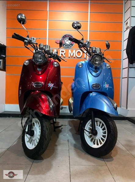 Motolux Efsane 50 2021 Model Sıfır Kilometre Senetle Motosiklet Mavi 1