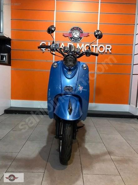 Motolux Efsane 50 2021 Model Sıfır Kilometre Senetle Motosiklet Mavi 3