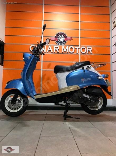 Motolux Efsane 50 2021 Model Sıfır Kilometre Senetle Motosiklet Mavi 4