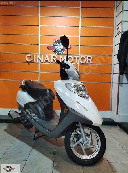 Motolux Cio 110 EFİ 2021 Model Sıfır Kilometre Senetle Motosiklet Beyaz 3