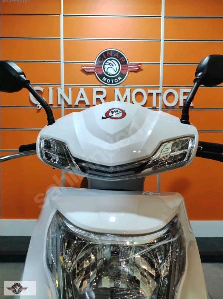 Motolux Cio 110 EFİ 2021 Model Sıfır Kilometre Senetle Motosiklet Beyaz 6