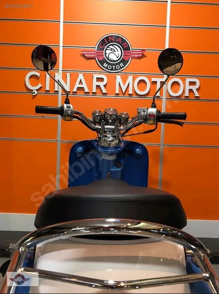 Motolux Efsane 50 2021 Model Sıfır Kilometre Senetle Motosiklet Mavi 9