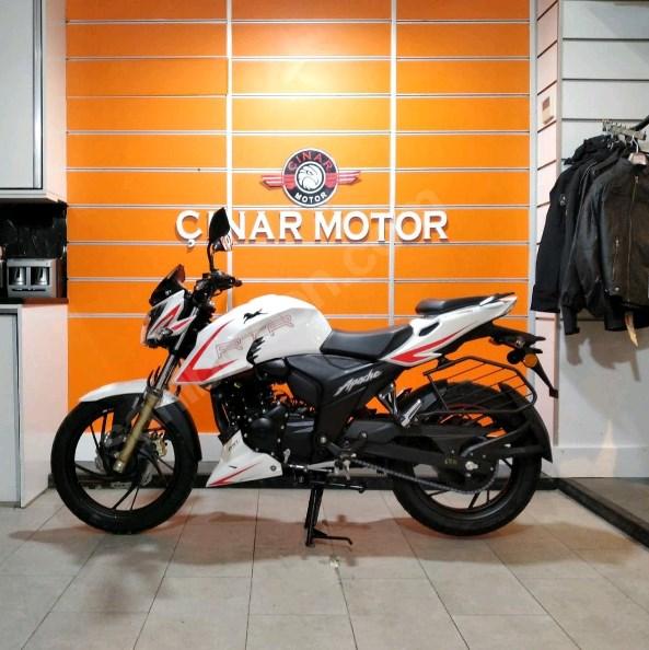 TVS Apache RTR 200 2020 Model Sıfır Kilometre Senetle Motosiklet Beyaz 3