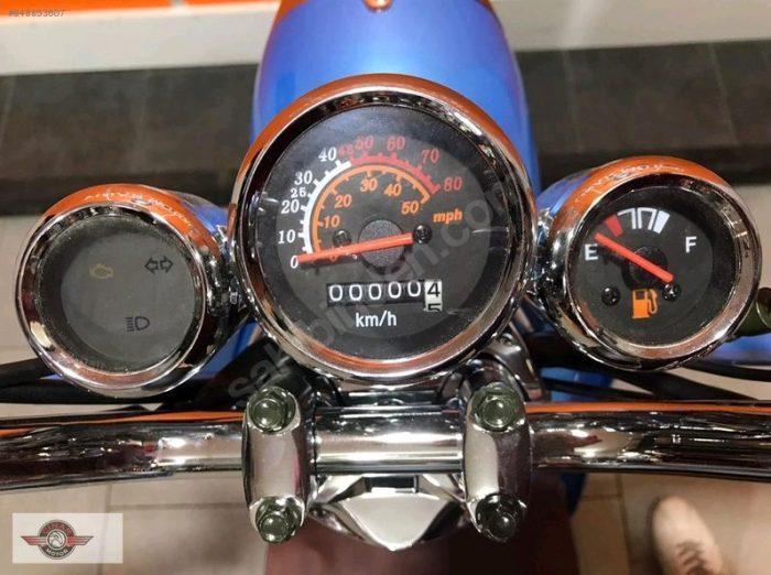 Motolux Efsane 50 2021 Model Sıfır Kilometre Senetle Motosiklet Mavi 10